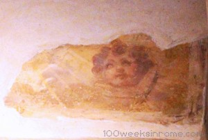 Angel Fresco in Pantheon, a little creepy