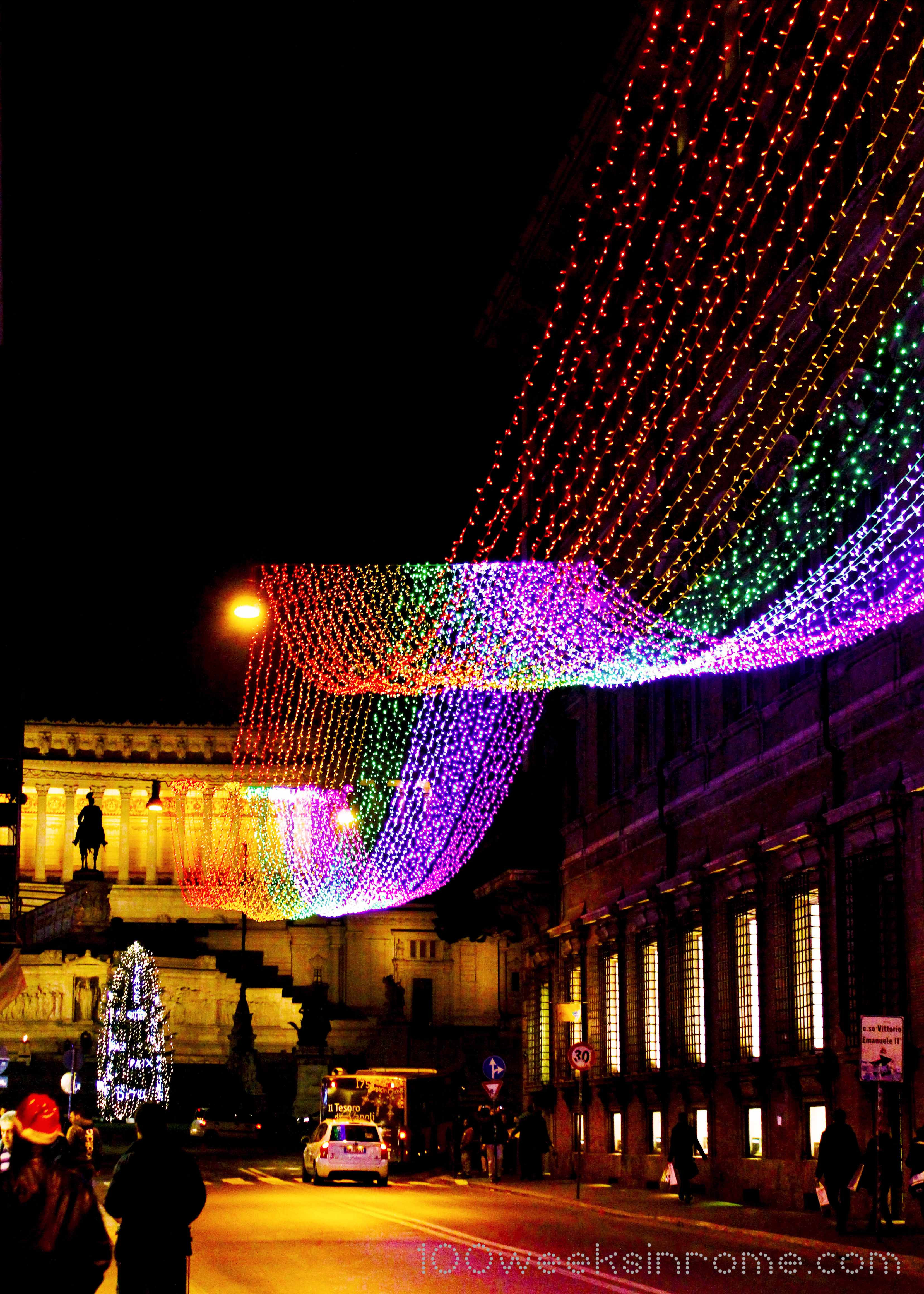 Christmas Lights In Rome 100 Weeks In Rome
