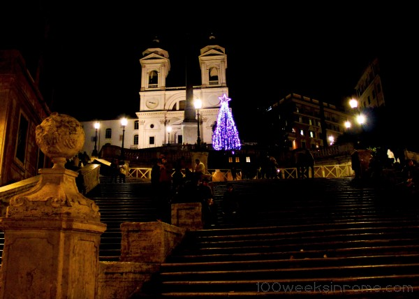 Christmas Tree & Nativity Scene at the Spanish Steps.