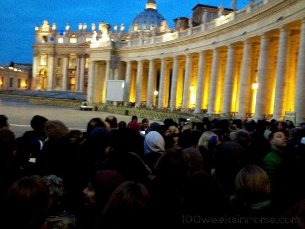 In Line for Mass at the Vatican