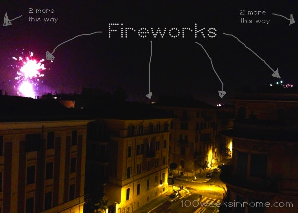 Rome Neighborhood Fireworks