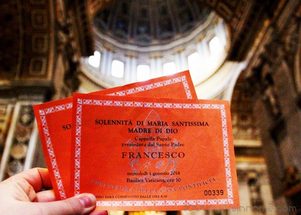 Vatican Mass Tickets