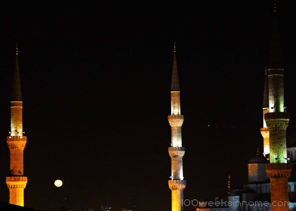Blue Mosque Moon