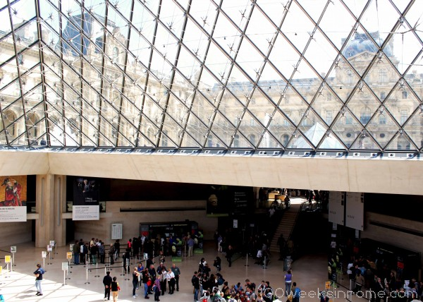 Inside Louvre Pyramid