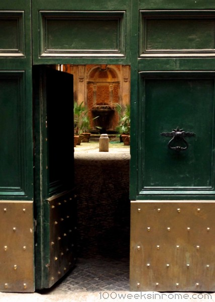 Open Doorway in Rome