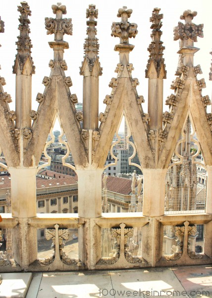Milan Cathedral View from Roof