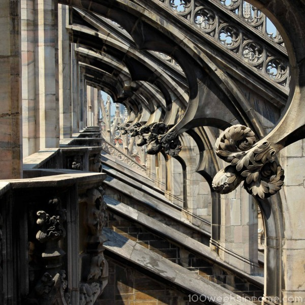 Milan Cathedral roof buttresses