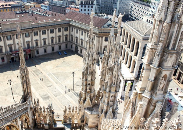 View of Milan from Cathedral