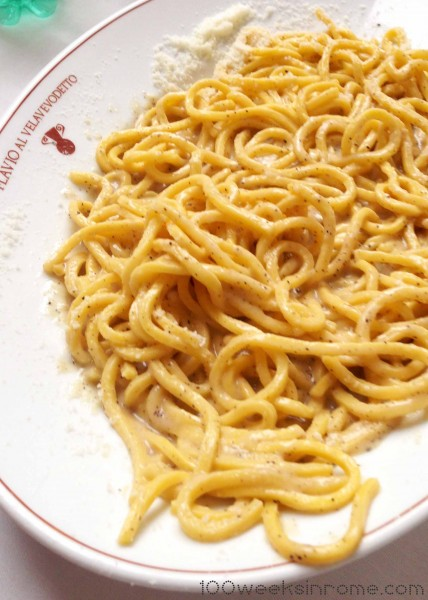 Cacio e Pepe – fresh spaghetti mixed with just three ingredients:  pecorino romano, cracked pepper, and pasta water.  When prepared correctly, this is comfort food at it's finest