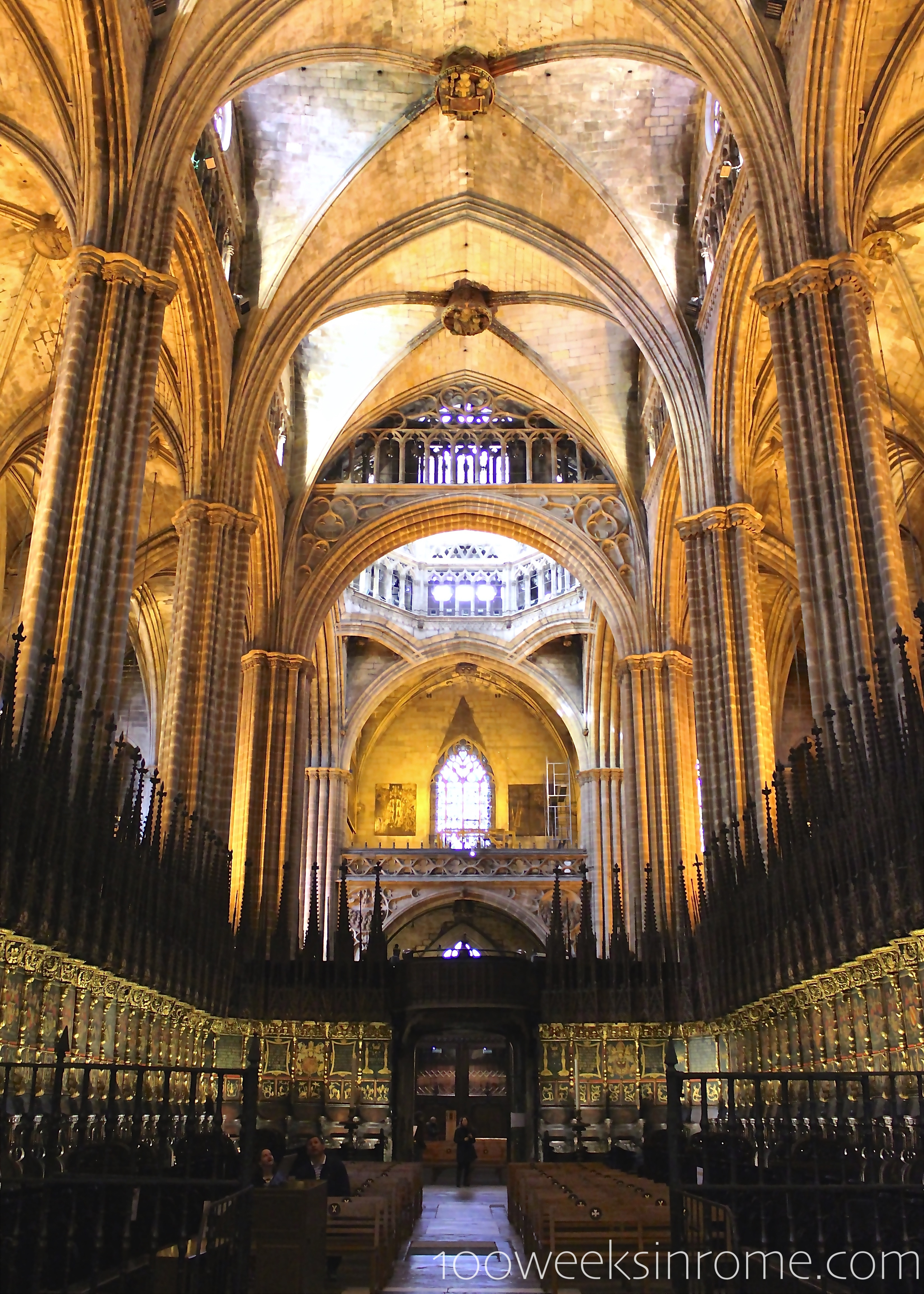 100 weeks in rome for Catedral de barcelona interior