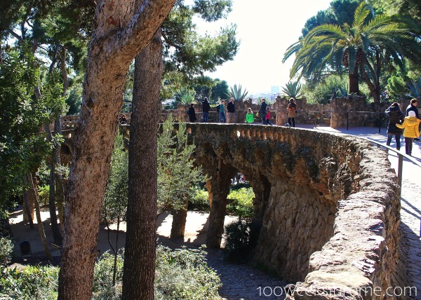 Parc Guell bridge