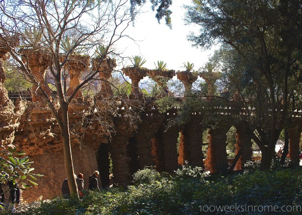 Parc Guell bridge view