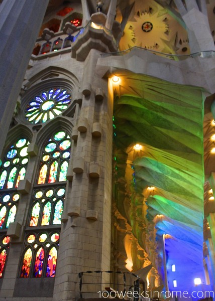 Sagrada Familia Green-Blue