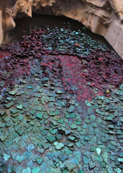 Sagrada Familia Leaf Door